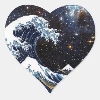 Hokusai & LH95 Heart Sticker