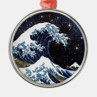 Hokusai & LH95 Metal Ornament