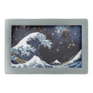 Hokusai & LH95 Rectangular Belt Buckle