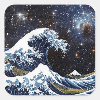Hokusai & LH95 Square Sticker