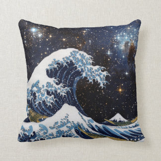 Hokusai & LH95 Throw Pillow