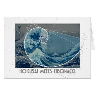 Hokusai Meets Fibonacci, Golden Ratio #2 Card