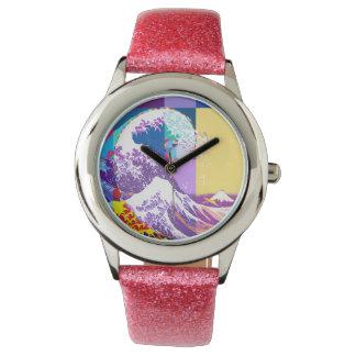 Hokusai Meets Fibonacci, Pop Art Style Watch
