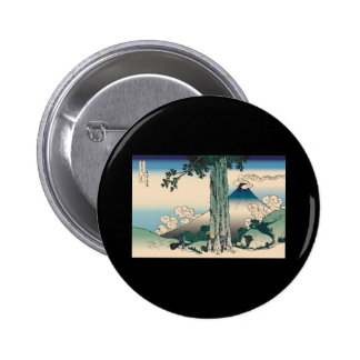 Hokusai Mishima Pass in Kai Province 2 Inch Round Button
