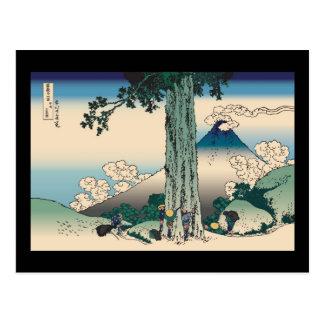 Hokusai Mishima Pass in Kai Province Postcard
