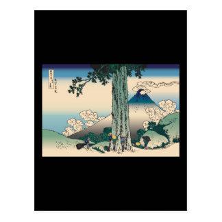 Hokusai Mishima Pass in Kai Province Postcards
