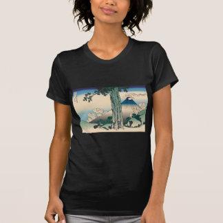 Hokusai Mishima Pass in Kai Province Tee Shirts