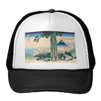 Hokusai Mishima Pass in Kai Province Trucker Hats