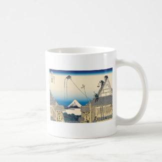 Hokusai Mitsui shop in Suruga in Edo Mugs