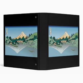 Hokusai Mount Fuji reflects in Lake Kawaguchi Vinyl Binders