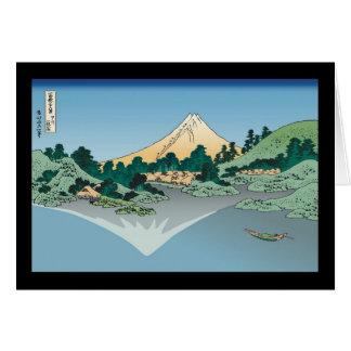 Hokusai Mount Fuji reflects in Lake Kawaguchi Card