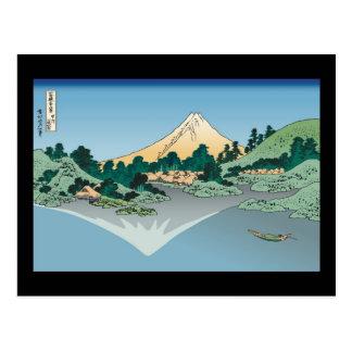 Hokusai Mount Fuji reflects in Lake Kawaguchi Postcard