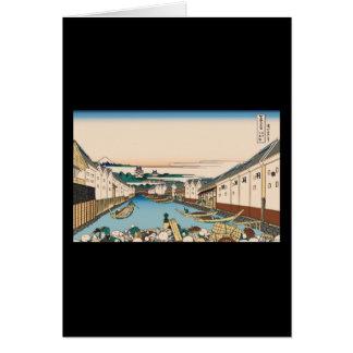 Hokusai Nihonbashi bridge in Edo Cards