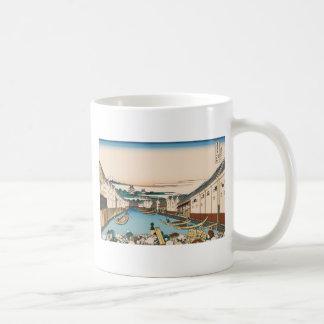 Hokusai Nihonbashi bridge in Edo Coffee Mug
