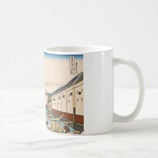 Hokusai Nihonbashi bridge in Edo Coffee Mugs