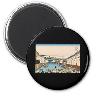Hokusai Nihonbashi bridge in Edo Magnet