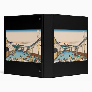 Hokusai Nihonbashi bridge in Edo Vinyl Binder