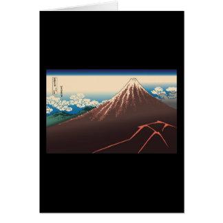 Hokusai Rainstorm Beneath the Summit Greeting Card