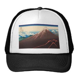 Hokusai Rainstorm Beneath the Summit Mesh Hats