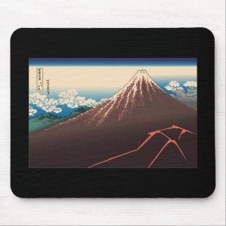 Hokusai Rainstorm Beneath the Summit Mousepads