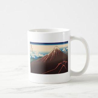 Hokusai Rainstorm Beneath the Summit Mugs