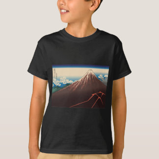 Hokusai Rainstorm Beneath the Summit T Shirt
