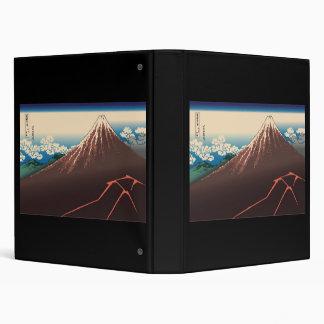 Hokusai Rainstorm Beneath the Summit Vinyl Binder