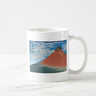 Hokusai Red Fuji Mugs