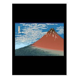 Hokusai Red Fuji Postcards