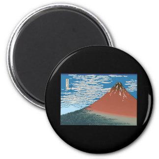Hokusai Red Fuji Refrigerator Magnet