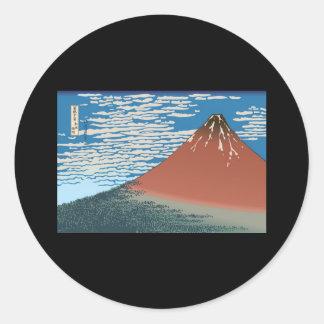 Hokusai Red Fuji Stickers