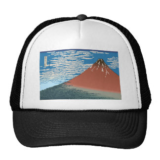 Hokusai Red Fuji Trucker Hat