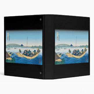 Hokusai Ryogoku Bridge Binders