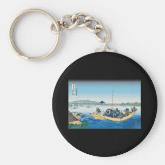 Hokusai Ryogoku Bridge Key Chain