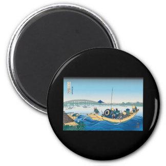 Hokusai Ryogoku Bridge Magnet