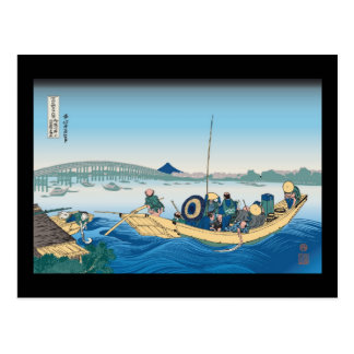 Hokusai Ryogoku Bridge Postcard