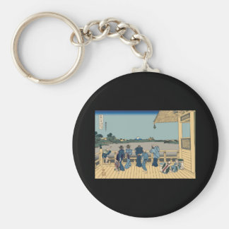 Hokusai Sazai Hall Keychains
