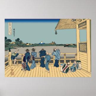 Hokusai Sazai Hall Poster