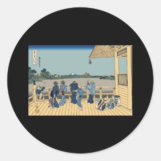 Hokusai Sazai Hall Round Sticker