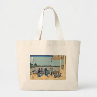 Hokusai Sazai Hall Tote Bags