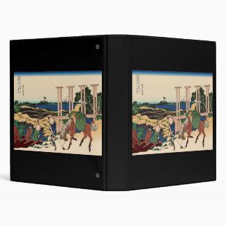 Hokusai Senju Musashi Province 3 Ring Binders