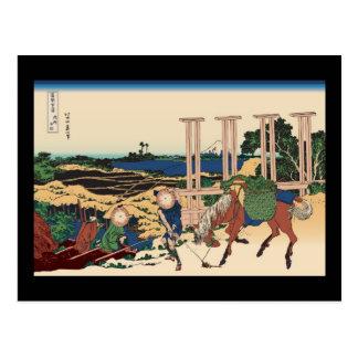Hokusai Senju Musashi Province Postcard