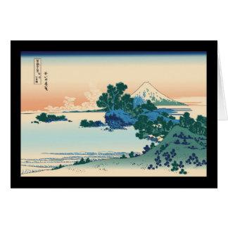 Hokusai Shichiri beach in Sagami Province Greeting Cards
