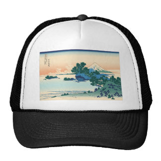 Hokusai Shichiri beach in Sagami Province Hats