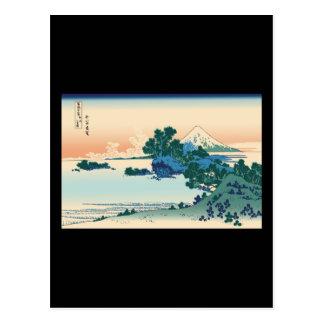 Hokusai Shichiri beach in Sagami Province Post Card