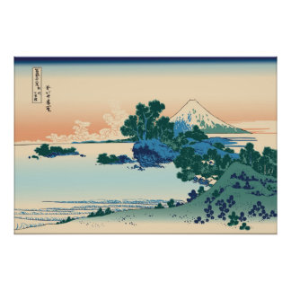 Hokusai Shichiri beach in Sagami Province Poster