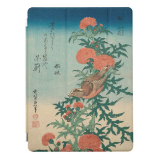 Hokusai Shrike and Blessed Thistle GalleryHD Art iPad Pro Cover