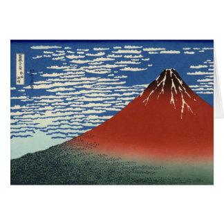 Hokusai South Wind Clear Sky Red Fuji Card