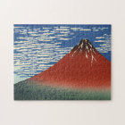 Hokusai South Wind Clear Sky Red Fuji Jigsaw Puzzle