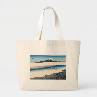Hokusai Tama River in Musashi Province Bags
